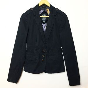 Lucky Brand Black Fitted Blazer with Cute Lining